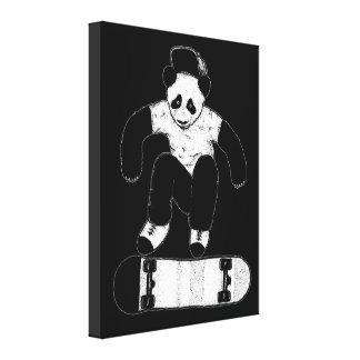 Toile Panda faisant de la planche à roulettes