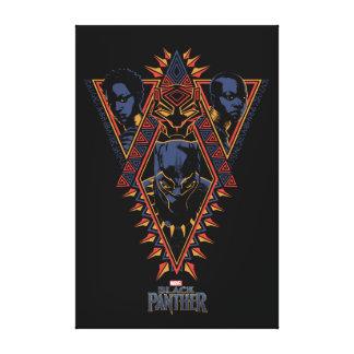Toile Panneau de tribal de guerriers de la panthère