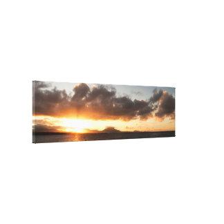 Toile Panorama de coucher du soleil