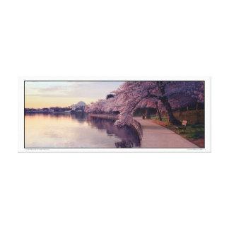 Toile Panoramique commémoratif de Jefferson de fleurs de