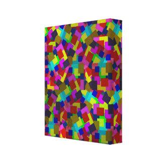 Toile Papier dispersé coloré par résumé de rectangles