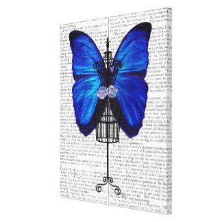 Toile Papillon de bleu de mannequin