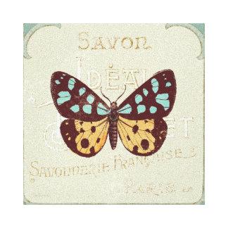 Toile Papillon modelé par cru