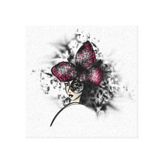Toile Papillon rose Fashionillustration