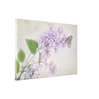 Toile papillon sur la fleur lilas
