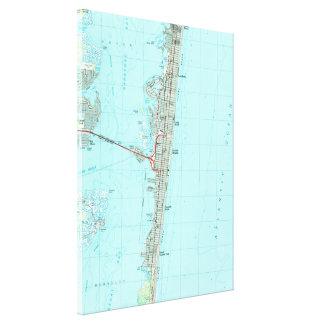Toile Parc de bord de la mer et rivage Map (1989) de NJ
