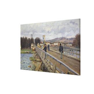 Toile Passerelle d'Alfred Sisley   à Argenteuil