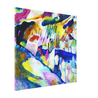 Toile Paysage avec la pluie par Wassily Kandinsky