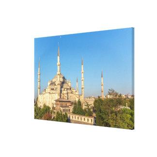 Toile Paysage bleu de mosquée
