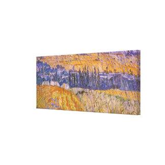 Toile Paysage chez Auvers sous la pluie, Vincent van