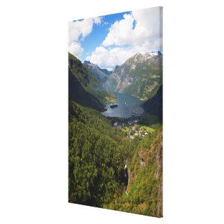 Toile Paysage de fjord de Geiranger, Norvège