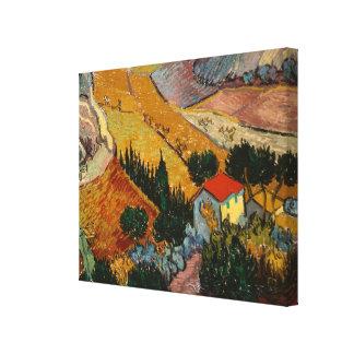 Toile Paysage de Vincent van Gogh | avec la Chambre et