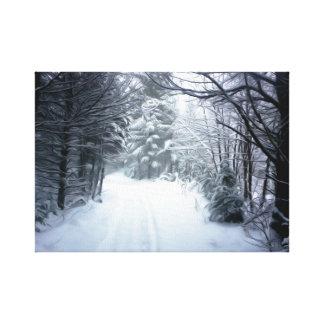 Toile Paysage d'hiver