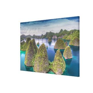 Toile Paysage d'île de Wayag, Indonésie