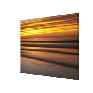 Toile Paysage marin abstrait au coucher du soleil, CA