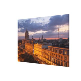 Toile Paysage urbain au coucher du soleil, La Havane,
