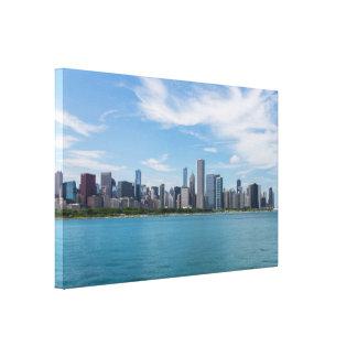 Toile Paysage urbain de jour de Chicago