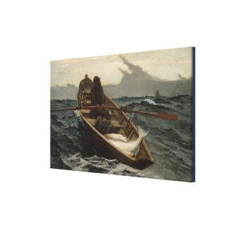 Toile Pêche vintage de flétan de Winslow Homer