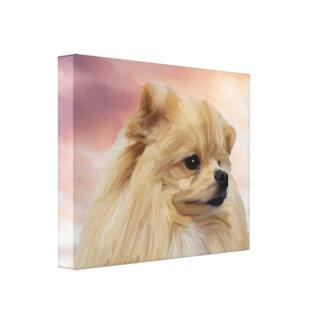Toile Peinture à l'huile mignonne d'aquarelle de chien