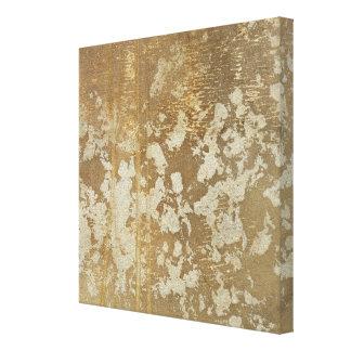 Toile Peinture abstraite d'or avec les taches argentées