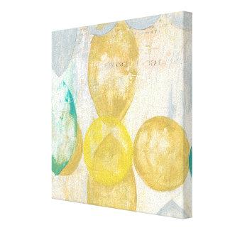 Toile Peinture abstraite moderne sur le papier journal