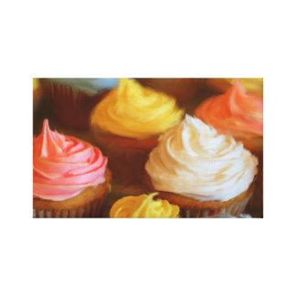 Toile Peinture colorée de petits gâteaux