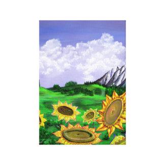 Toile Peinture de gisement de tournesol