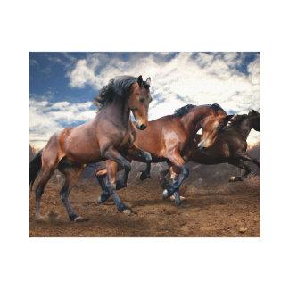 Toile Peinture de mur de chevaux