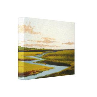 Toile Peinture de paysage marin de marais de rivière
