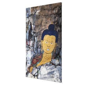 Toile Peinture de roche de Bouddha