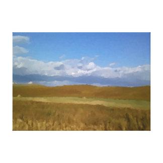 Toile Peinture d'impression de champ de blé