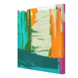 Toile Peinture libre multicolore d'expression