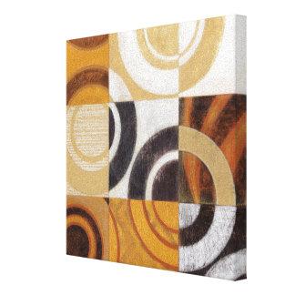 Toile Peinture moderne avec les motifs circulaires