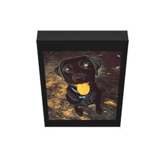 Toile Peinture noire de Labrador
