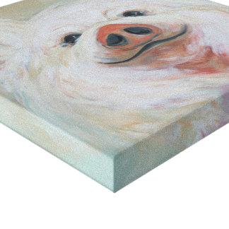 Toile Peinture pelucheuse de porc