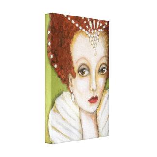 Toile Perles élisabéthaines de peinture lunatique