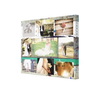 Toile Personnalisé épousant l'art de mur de collage de