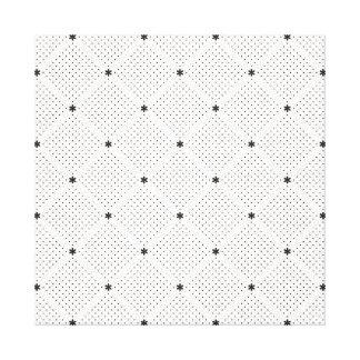 Toile Petit motif de points blanc noir élégant
