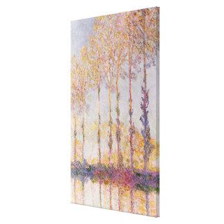 Toile Peupliers de Claude Monet | sur les banques de