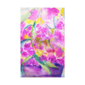 Toile phlox d'aquarelle