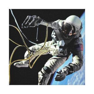 Toile Photo américaine de Spacewalk d'astronaute de la