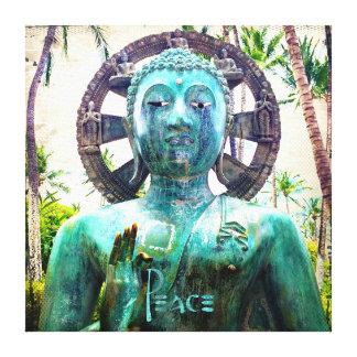 Toile Photo asiatique de statue de Bouddha de turquoise