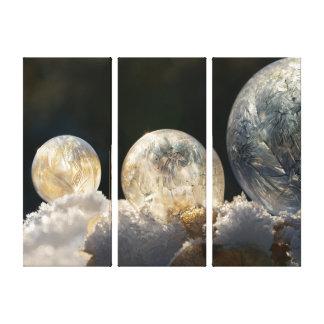 Toile Photo congelée d'hiver de cool de cristal de glace