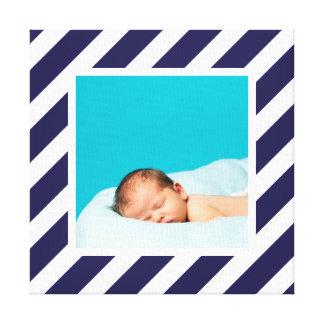 Toile Photo faite sur commande de bébé et art rayé de cr