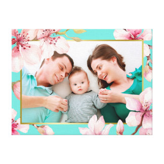 Toile Photo florale de coutume de cadre de fleurs de