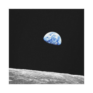 Toile Photo lunaire d'orbite de lune de la NASA Apollo 8