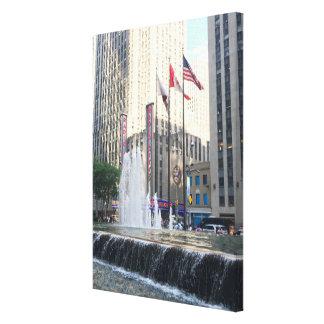 Toile Photographie d'avenue de fontaine de New York City
