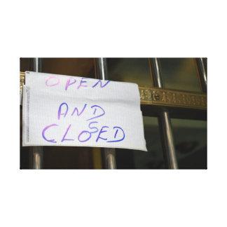 Toile Photographie ouverte et fermée de New York City
