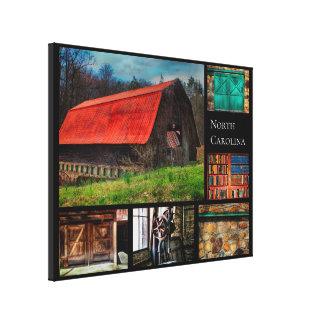 Toile Photographie rustique de grange de ferme de la