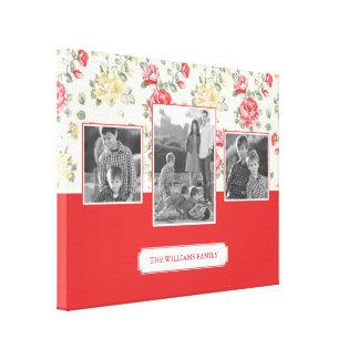 Toile Photos et texte de famille élégants du papier